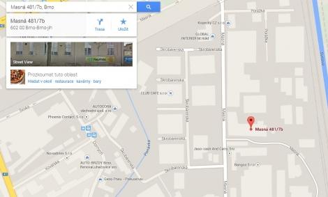 Kliknutím se zobrazí mapa s přesnou polohou prodejny NEUMAN na Masné 7b